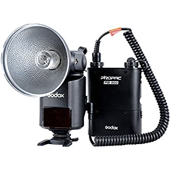 Godox Witstro AD-360 Bare Tube Flash Speedlite + PB960 Battery Power Pack Black