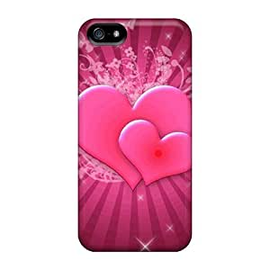 Hot Snap-on Pink Hearts Hard Covers Cases/ Protective Cases For Iphone 5/5s