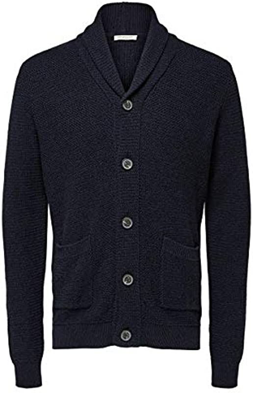 SELECTED HOMME Slhrichard Button Shawl Neck Cardigan W kurtka z dzianiny: Odzież