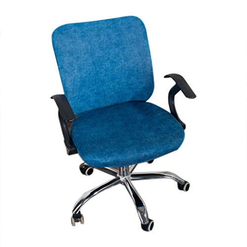 STOCO Office Chair Covers Stretch Cotton Fabric Computer Slipcover Flower Printed Removable Rotating Chair Covers