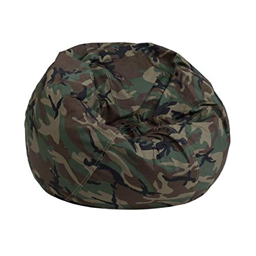 (JMiY Personalized Small Camouflage Kids Bean Bag Chair Embroidered with Your Child's)