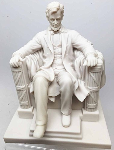 DESKTOP SEATED PRESIDENT ABRAHAM LINCOLN STATUE FIGURINE WASHINGTON WHITE HOUSE