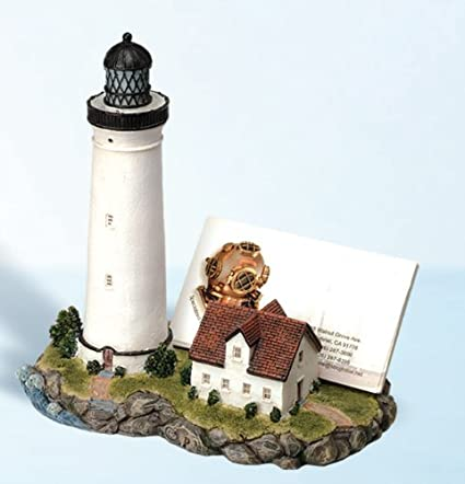 Amazon lighthouse business card holder home kitchen lighthouse business card holder colourmoves
