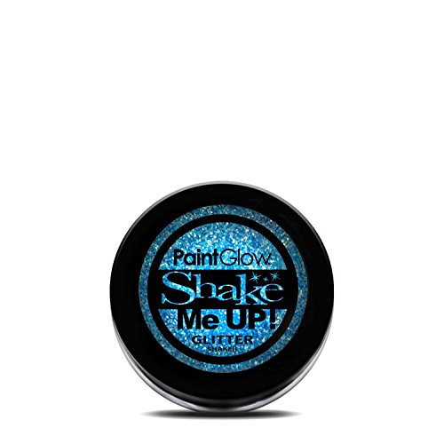 PaintGlow UV Blacklight Reactive Face and Body Glitter Shaker (Ice Blue)