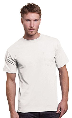 Bayside Adult Union Made Pocket Tee - WHITE - L ()