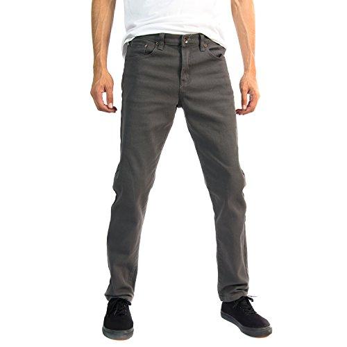Alta Designer Fashion Mens Slim Fit Skinny Denim Jeans - Gray -32 ()