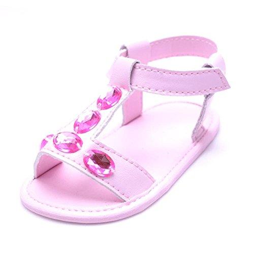 Clode® Kleinkind Sommer Baby Boy Girl Krippe Schuhe Crystal Anti-Rutsch Baby Sneakers Sandalen Rosa