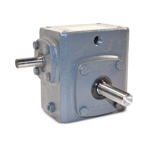 Boston Gear 72460KJ Right Angle Gearbox, Solid Shaft Input, Left Output, 60:1 Ratio, 2.38