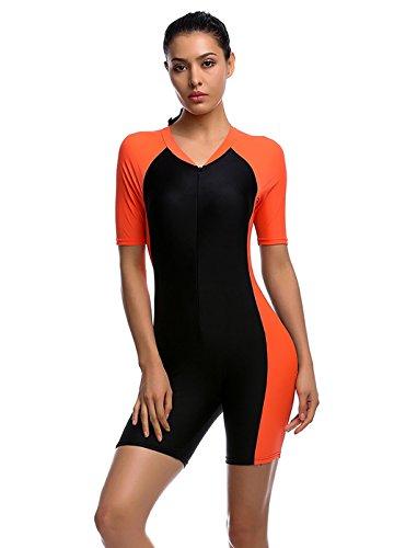 Damen UV Schutz Anzug Badeanzug Badebekleidung Wassersport short neu