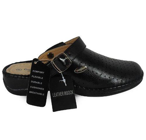 Confortable 3 Chaussures Loudlook Femmes Nouvelles 8 Filles Black Pantoufles Mules Dames Taille Sandales Glissement Appartement Tread pqYAqacyz
