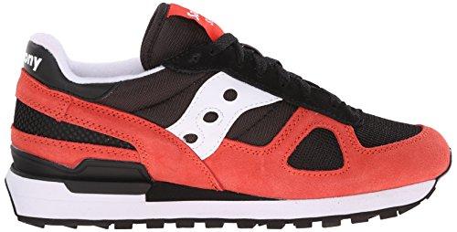 Scarpe uomo tempo libero, Saucony Originals Shadow O, art. 2108 609, colore rosso e nero, tomaia in suede mesh, taglia 44.5