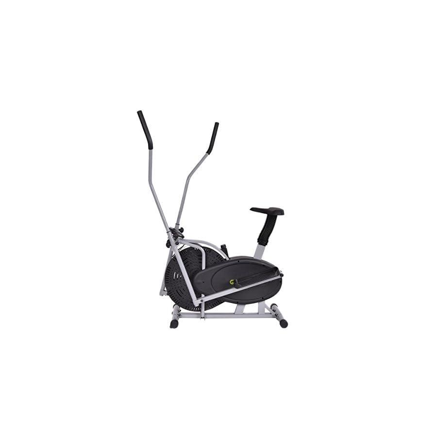Goplus 2 IN 1 Elliptical Fan Bike Dual Cross Trainer Machine Exercise Workout Home Gym