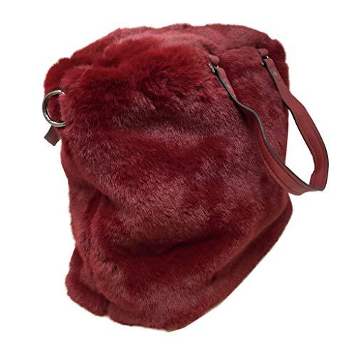 Regalo retro Piel Moderno Estudiante Tote Shopper Disco Muy Elegante Hombro Bag Angkorly Moda Cabas Idea Sintética Suave Borse Flexible De Vendimia Mujer Burdeos qCwS61p