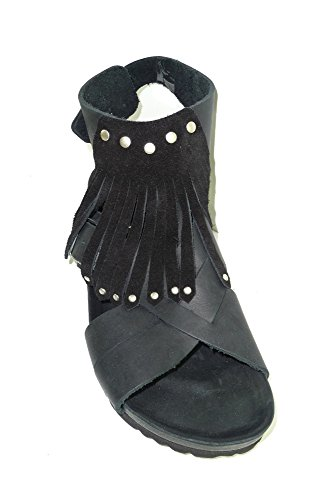 Birkenstock Tunis Tassel - Sandalias Mujer Negro - Black (Black Exquisit)