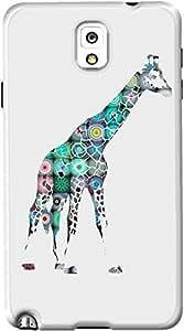 DailyObjects Cover Giraffe Case For Samsung Galaxy Note 3 (Back Cover) Multicolored