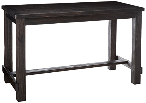 Scott Living Bynum Collection Antique Black Pine Wood Counter Height Dining Table