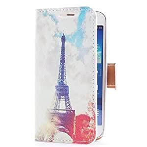 LHY Eiffel Towel Style Leather Case with Card Slot and Stand for Samsung Galaxy S4 Mini i9190