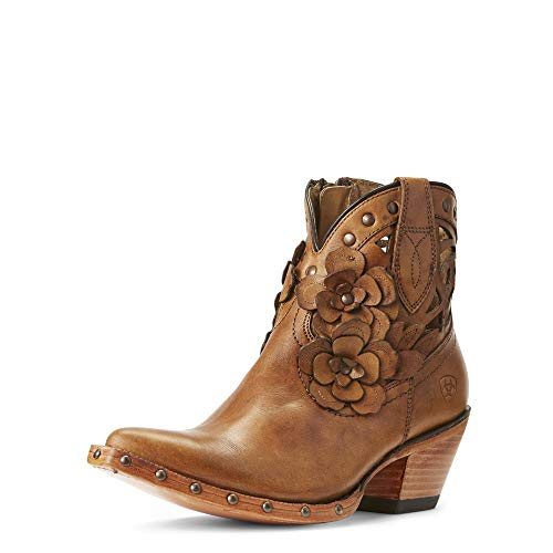 ARIAT Women's Flora Western Boot Teak Size 9 B/Medium Us (Flora Ankle Boot)