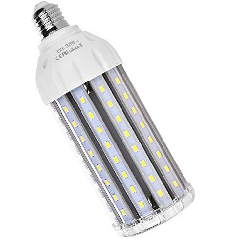 35W E26 LED Corn Light Bulb, MHtech E26 LED Bulb Cool White 6000K 3500 Lumen 300 Watt Equivalent Large Area Light Bulb LED for Home Street Lamp Garage Factory Warehouse Backyard Garden (E26 LED 6000K)