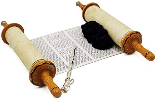 Torah Scroll Complete Sefer Torah Children s Torah, Medium Blue Velvet Torah – 13
