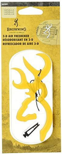 Browning Air Freshener | 3D Buckmark | Vanilla | 1 Pack Hunting & Shooting Equipment, Vanilla, - 3d Freshener Air