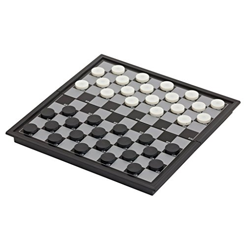B Baosity チェッカーボード チェスマン 駒 磁気 折り畳み式 カジュアル ゲーム 2人遊んで おもちゃ