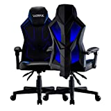 UOMAX Gaming Chairs, Ergonomic Computer Chair for Gamers, Reclining Racing Chair with LED Lights, Armrests and Lumbar Cushion.(Blue)