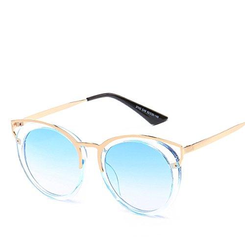 Ojos Moda De RinV Damas Unidos Sombrillas Y Gato Estados De De Gafas Metal Sol Hueca Sol Gafas NO3 Europa No6 r1vr6xnR