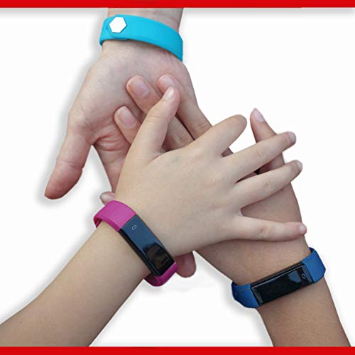 Kids Fitness Tracker for Kids Activity Tracker - Smart Watch for Android Phones iOS Digital Smart Bluetooth Step Calorie Counter Sleep Monitor Exercise Pedometer Alarm Clock - Aqua Black 2 Band Gift