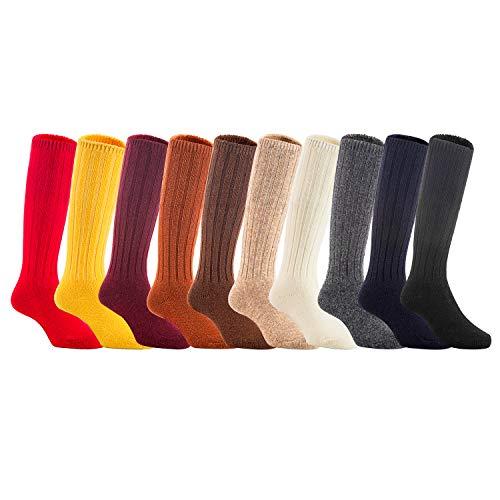 1/2 Knee 4 Boot Inch (AATMart 6 Pairs Children KNee-High Wool Blend Boot Socks Size 2-4Y Boy Random Color)