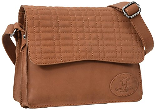 Gusti Leder studio Sandy borsetta di pelle a spalla a mano città lavoro università elegante graziosa spalla vera pelle di capra marrone 2H69-29-1