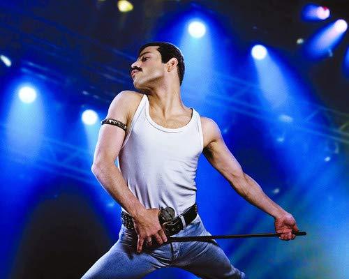 Bohemian Rhapsody Rami Malek Iconic Freddie Mercury in concert 8x10 Promotional Photograph