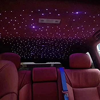 Hongtie Car Use 12w Led Rgbw Fiber Optic Star Ceiling Kit