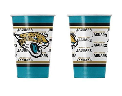 NFL Jacksonville Jaguars Disposable Plastic Cups, Pack of 24
