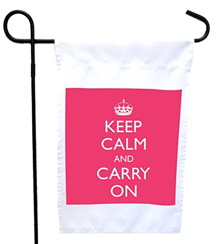 Rikki Knight Keep Calm and Carry on - Tropical Pink House...
