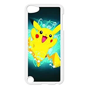 iPod 5 case,iPod Touch 5th Generation Case,iPod Touch 5 case cover,Custom Pokemon Pikachu Plastic Case Cover Protector for iPod Touch 5/5th Generation (Black/White)