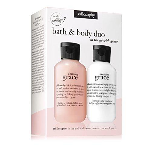 - Bath & Body Duo Philosophy Amazing Grace Shampoo Bath & Shower Gel 2oz Amazing Grace Firming Body Emulsion 2oz