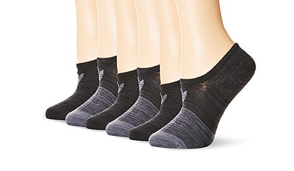 Adidas Agron Calcetines de Las Mujeres Originales Bloqueado Espacio Dye 6 Pack Super No Show Calcetines, Mujer, GreyGreyGrey/Onix Space D: Amazon.es: ...
