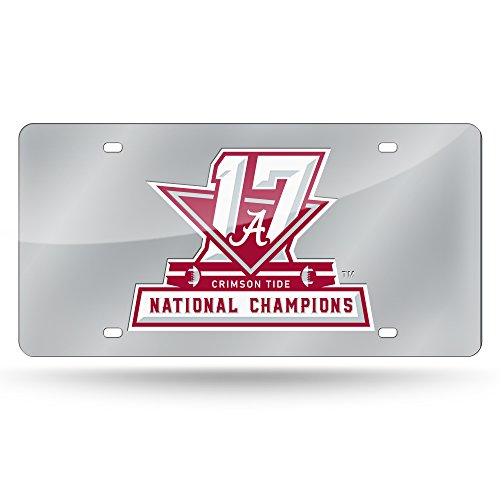 Rico NCAA Alabama Crimson Tide 2017 CFP Champ Laser Cut License Plate by Rico