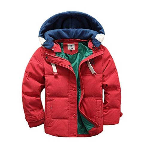 Coat Girls Hooded (Valentina Kids Winter Latest Thicken Hooded Jacket Warm Quilted Coat Casual Outdoor Cool Cute for Boys Girls Autumn Spring, 4 = Height 36