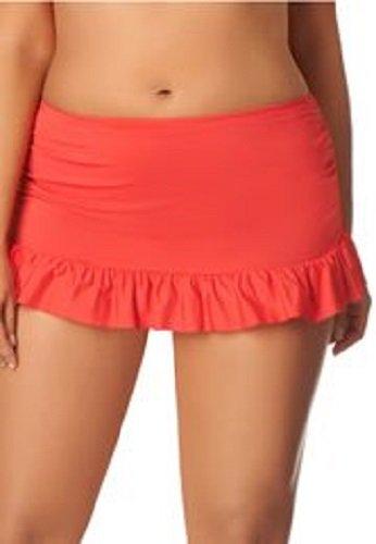 - Island Escape Women's Ruffled Swim Skirt (12, Coral)