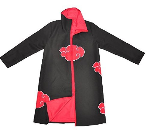 COSAUG Japanese Amine Akatsuki Costumes with Collar (XL) by COSAUG (Image #3)