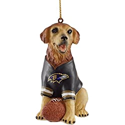 baltimore ravens golden retriever christmas ornament
