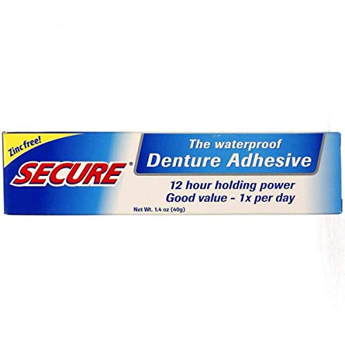 Secure Denture Waterproof Adhesive 1.40 oz - Pack of 2