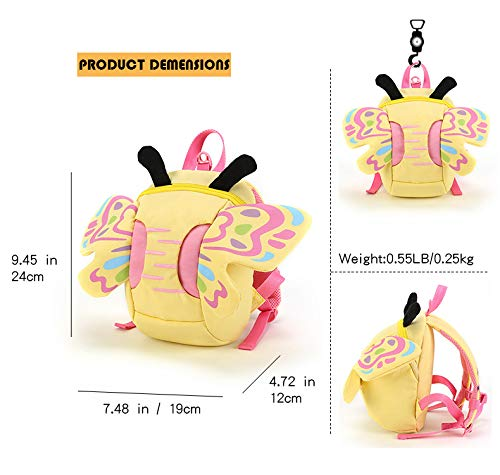 Butterfly backpack with Safety Leash