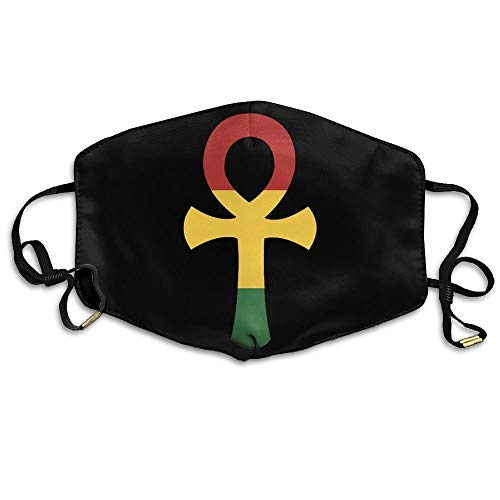 ZISHANG Comfortable Material Windproof Face Mask Unisex Rasta Ankh Rastafarian Egyptian Washable Anti Pollution Lip Mask Mouth Face Masks