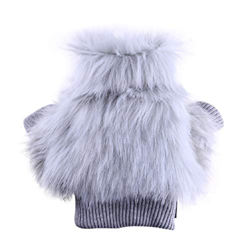 Barlingrock Pet Dog Sweater for Small Mediumn Dog, Autumn Winter Warm Fashion Pet Puppy Vest Shirts Jacket Coats Clothing Cool Faux Fur Two-Legged Doggy Dogs Clothes Coat Pets Apparel Costume