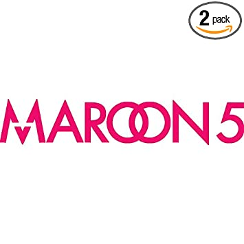 Maroon 5 band logo icon symbol pink set of 2 silhouette