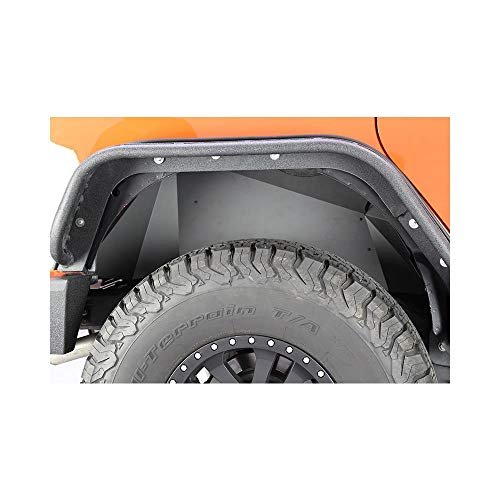 (Fishbone Offroad FB33007R Jeep Rear Inner Fenders 07-18 Wrangler JK Aluminum Black Powercoat)