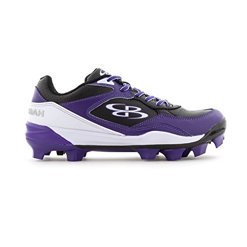 Boombah Women's Endura Molded Cleats Black/Purple - Size 7.5 by Boombah